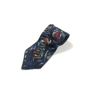 Men's Christian Dior Tie Navy Blue Silk